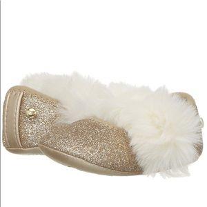 BN in box! UGG kids Fluff Glitter Ballet Flat sz M